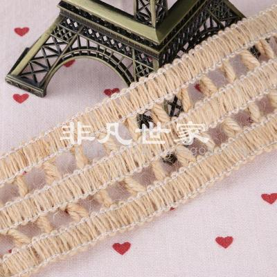 Twine lace woven belt shoes crafts accessories