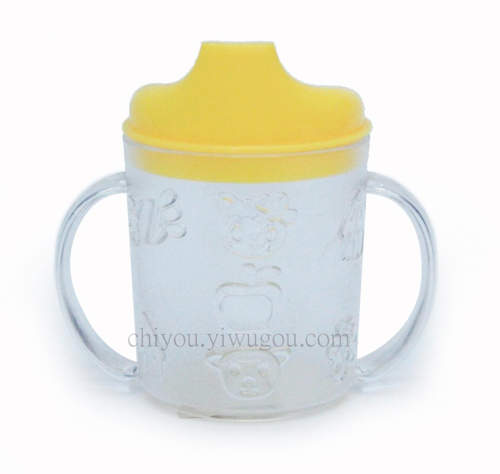 可爱卡通婴儿杯 宝宝喝水杯 带手柄水杯 cy-2907
