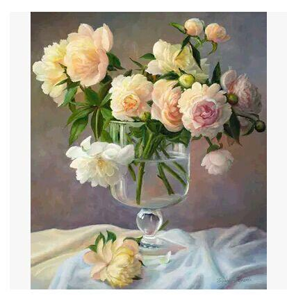 diy数字油画客厅风景花卉动漫人物大幅手绘装饰画