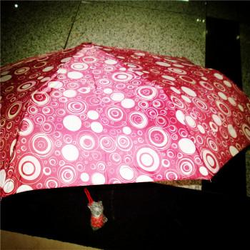 全自动圆圈伞三折伞折叠伞高端晴雨伞创意防风伞