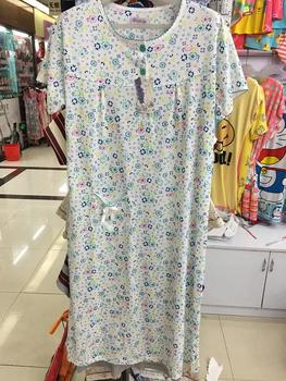 Foreign trade dress add fertilizer increased Home Furnishing multiple cotton short sleeved pajamas clothing size