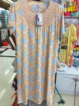 Foreign trade new summer Nightgown increase milk silk bow Home Furnishing wear pajamas