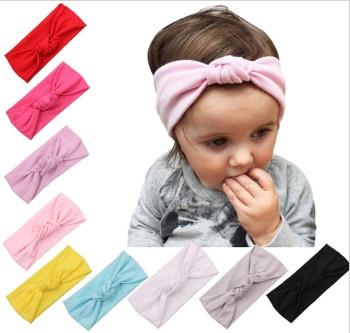 結ばれた髪の子供たちは、綿の弾性ヘッドバンドと髪の色を工場直接卸9編