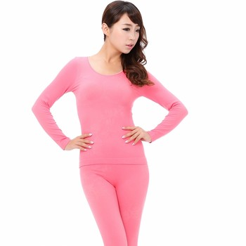 A street vendor Kuanqiu thin lady seamless body thermal underwear sets manufacturers wholesale
