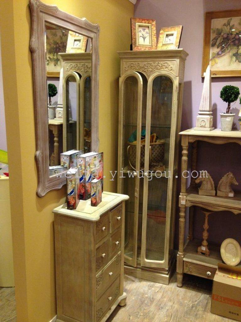 精美雕花玻璃立柜 欧式玻璃柜 储物柜