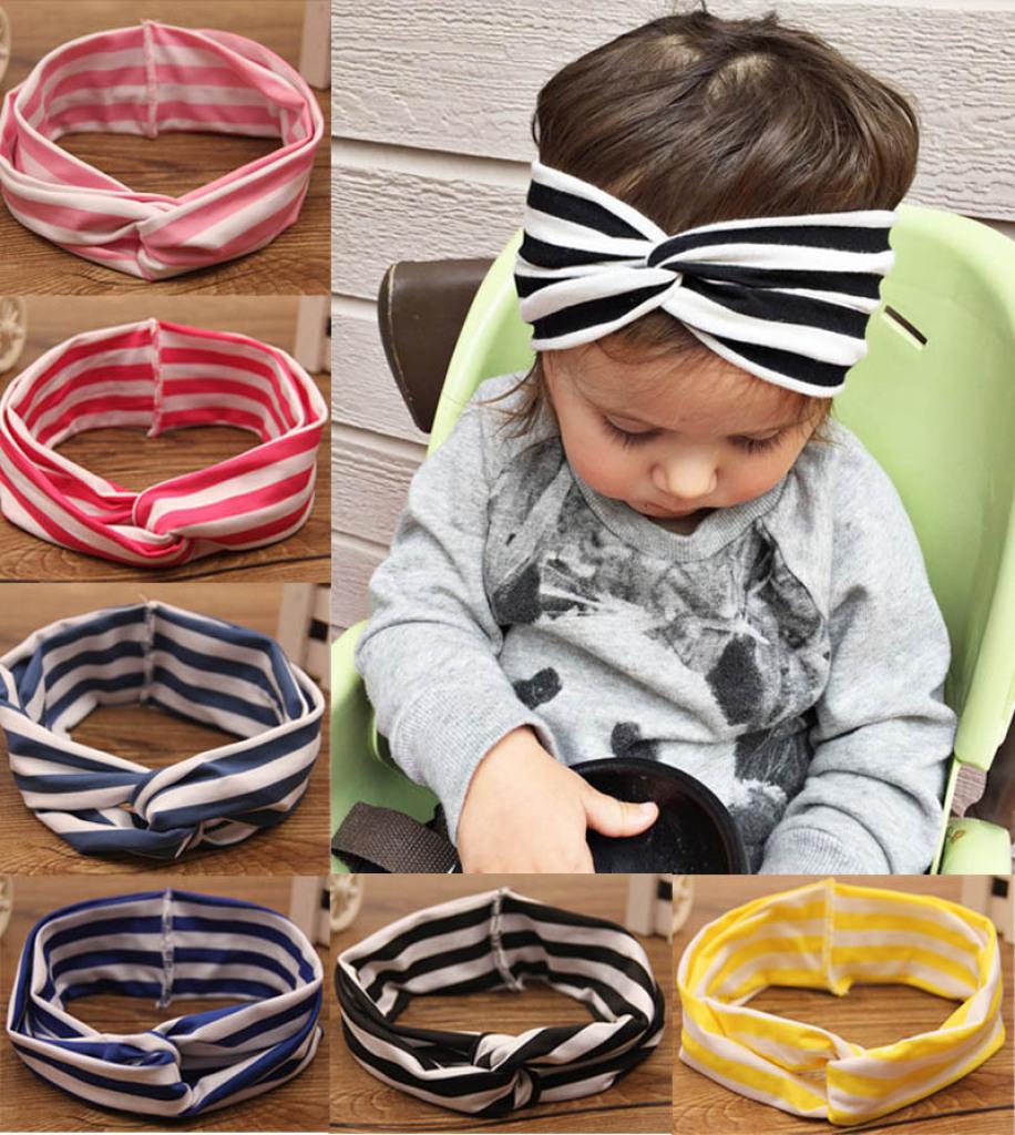 In June the new Europe children s hair elastic stripe cross hair band  headband eBay aliexpress hot 304375c11d6