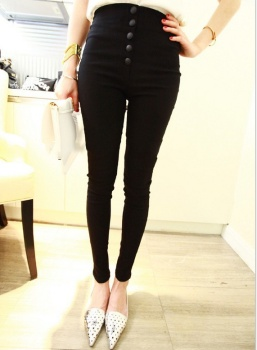 The new slim breasted pencil pants size feet Leggings