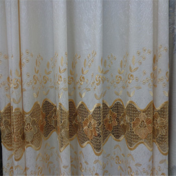 A variety of colors, embroidery, full shade, curtain fabric