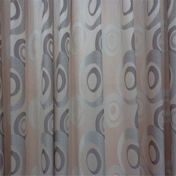A variety of colors, ring designs, curtain fabric