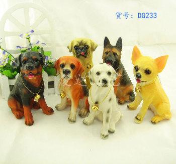 resin crafts simulation Dog Desktop decoration