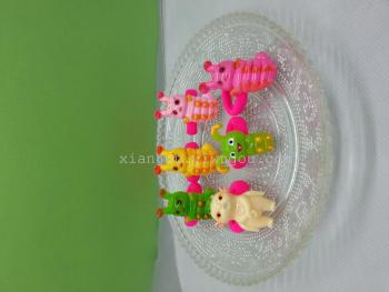 The new flower - bone sugar treasure, caterpillar children hair - ring huba hair decorative towel ring rubber band.