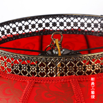 仿古圆羊皮灯笼大叶室内户外防水防晒节日装饰大红灯笼