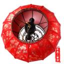 仿古中式羊皮灯笼 节日装饰室外防水大红圆灯笼金梅