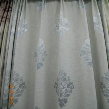 1030-grey printed curtain fabric