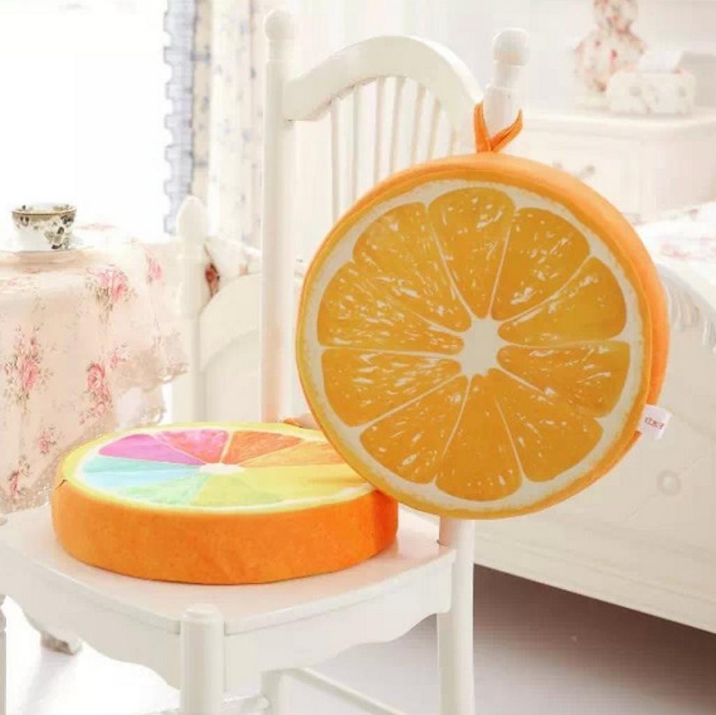 春夏清爽水果坐垫可爱橙子坐垫卡通椅垫创意生日礼物