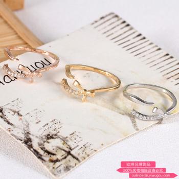 Japanese super sweet ribbon bow knot adjustable ring ring ring ring food