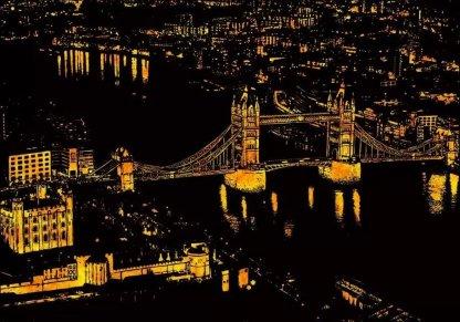 韩国 新款爆款 城市风景 夜景 刮刮画_京翔纸品_义乌