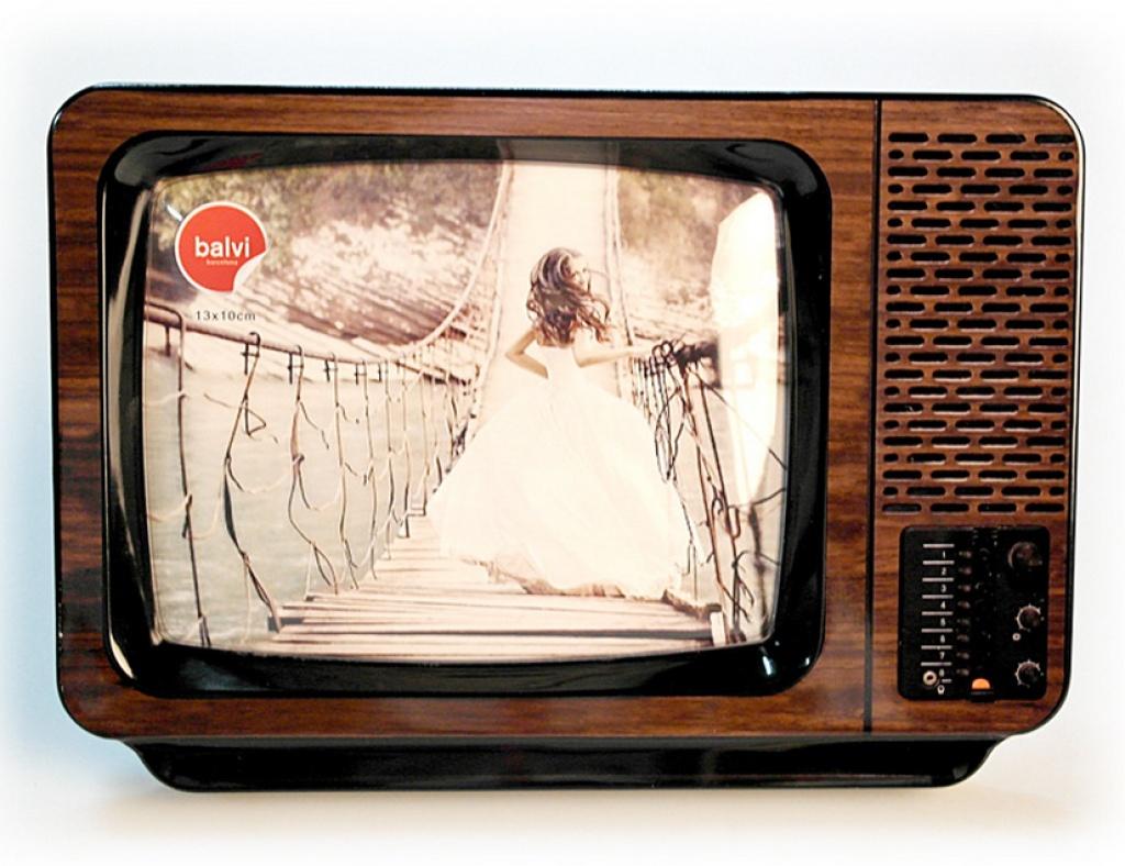 创意电视机相框带留言板功能 复古tv电视相框