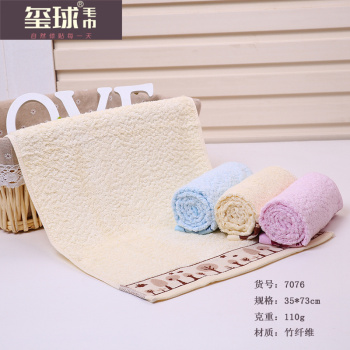 Bamboo fiber towel wide section of the side of the small tree bird towel antibacterial water absorbent towel