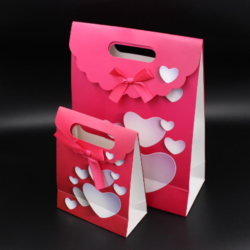 三角礼品袋 立体爱心 翻盖袋 包装袋 纸袋