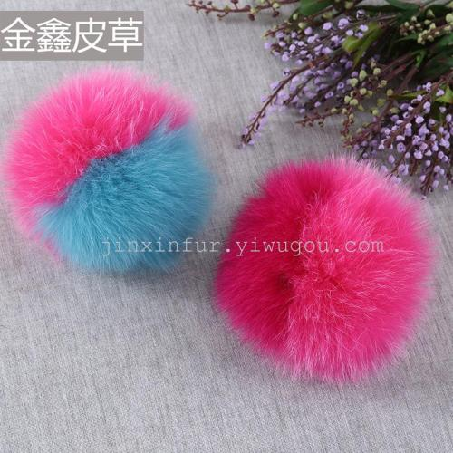 Stitching color fox hair ball mobile phone pendant jewelry accessories