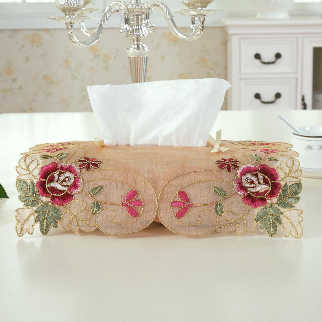 【后浪工艺品】欧式绣花纸巾盒
