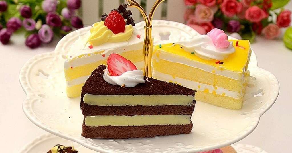 仿真食物三角形蛋糕面包模型婚庆橱窗摆设拍摄道具区图片