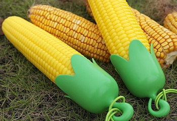 Creative corn shaped clear umbrella with a series of fruit and vegetable fruit umbrella series