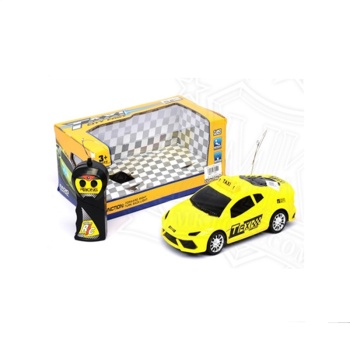 Children's toys, educational toys plastic boxed two remote control remote control toy car taxi