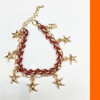 South Korean Star Knitting bracelets hanging chain