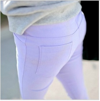 The spring and autumn Korean fashion Leggings stretch pencil pants and women wear high waist pants feet