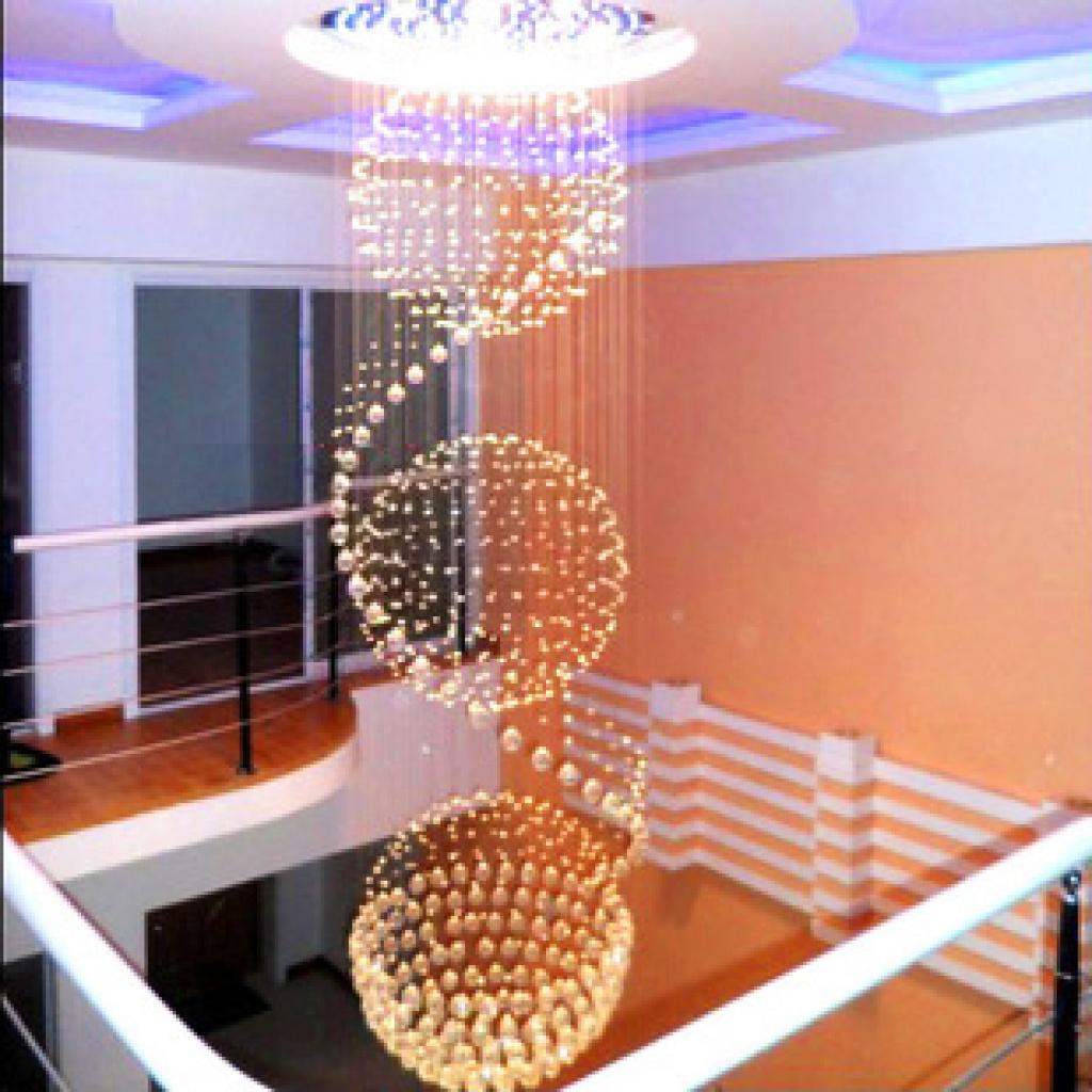 螺旋拉线灯s形吊线灯酒店大堂大厅工程灯店面装修楼梯