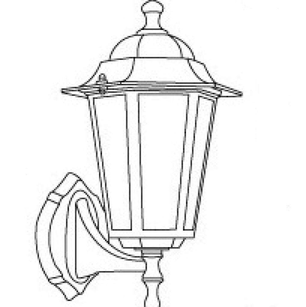 欧式壁灯小六角户外灯别墅阳台灯庭院灯具防水防锈图片