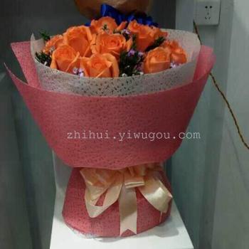 新款高档防水鲜花花束包装纸 优质无纺布浣纱纸
