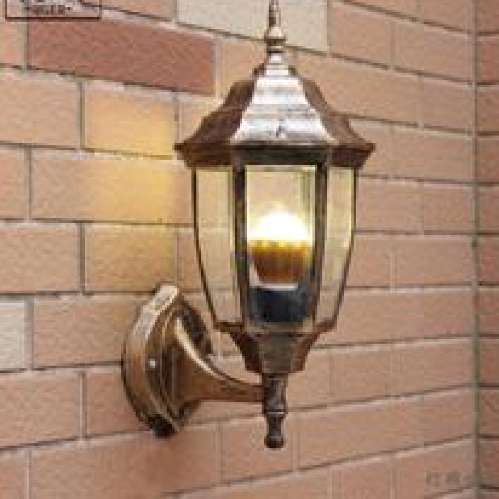 欧式墙壁灯创意卧室壁灯客厅阳台过道楼梯小弯六角壁