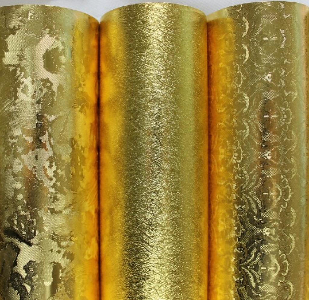 金箔墙纸壁纸吊顶金色欧式拉丝背景墙反光壁纸卧室