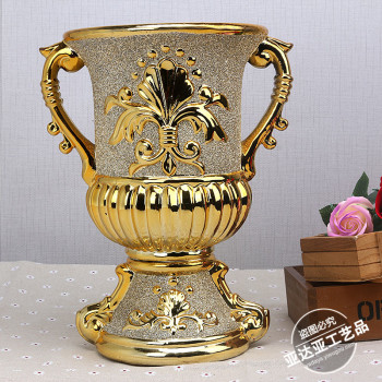 European ceramic inlaid copper creative home living room decoration crafts trophy Decoration