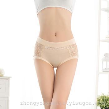 Yiwu Zhong Yong spot wholesale underwear underwear lace waist briefs export modal