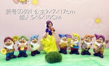 The 7 dwarfs and snow white resin decoration crafts