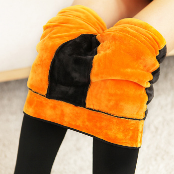 Waist hip and waist knee pants one warm pants with super soft velvet nylon thickened foot Leggings