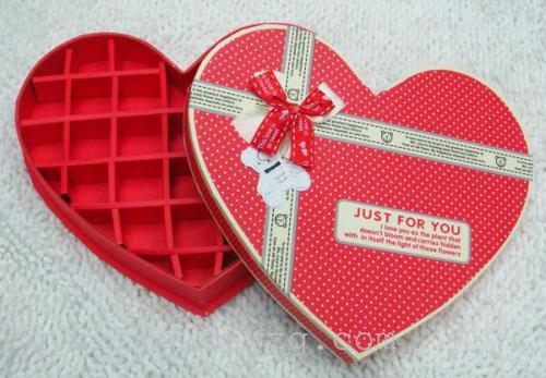 双蝴蝶结爱心27格礼品包装盒 礼品盒 巧克力盒