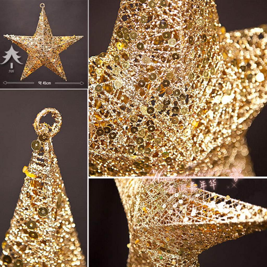 圣诞节五角星/多角星/八角星/圣诞装饰