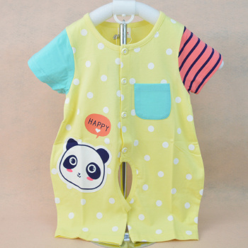 Lu Xuan wholesale 2015 new summer cotton baby Jumpsuit 1553 open crotch infant climbing clothes