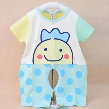 Wholesale 2015 new summer cotton baby romper Jumpsuit 1555 open crotch newborn climb clothes