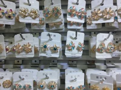 Stud earrings ear clip High-grade fashionable joker earrings wholesale and mixed batch