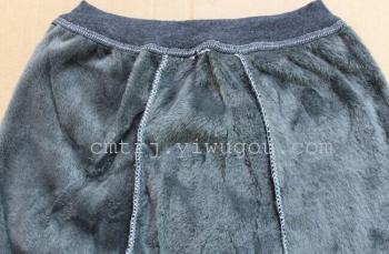 Men don't pour cashmere warm pants add thick