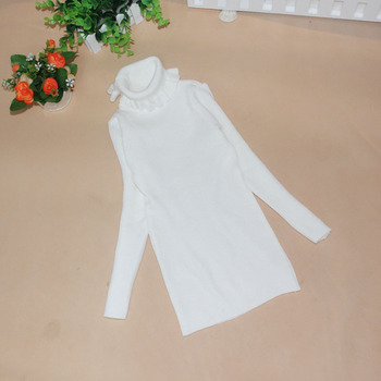 New autumn and winter 10 yuan Kids Girls Child solid fold lace collar shirt pullovers sweater