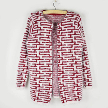 New 2017 Autumn winter fashion women cardigans striped mohair sweater for women