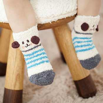 Hot money in the animal world stereo embroidery anti-skid floor socks socks boy girl Home Furnishing children