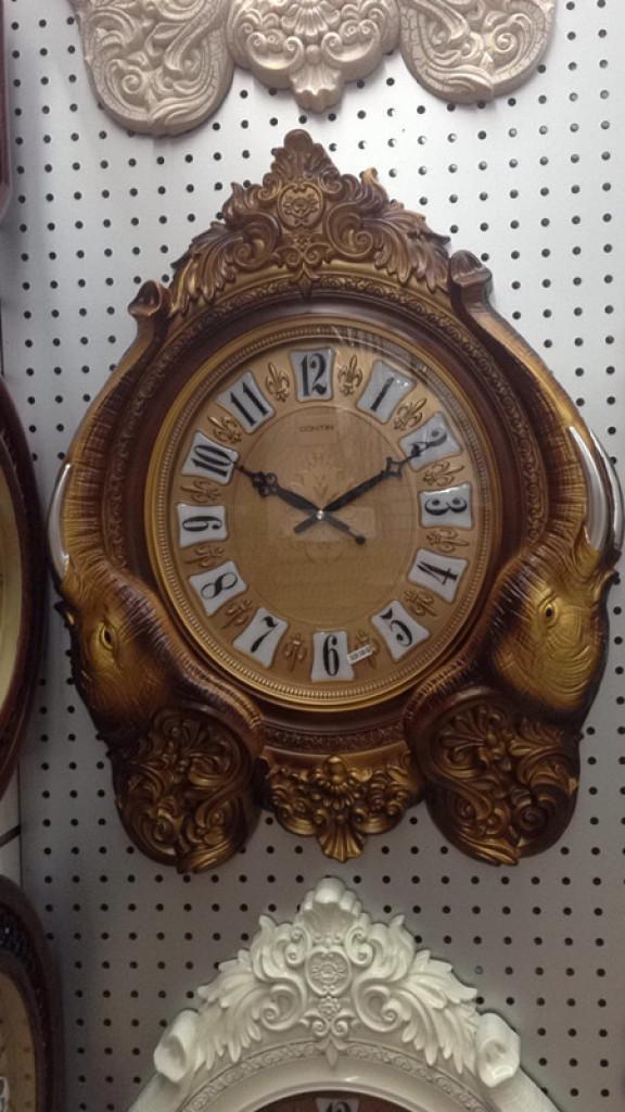 豪华欧式象牙造型艺术钟表时尚时钟石英钟装饰大挂表壁钟复古挂钟